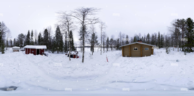 Casa de vacaciones en invierno Imagen De Stock