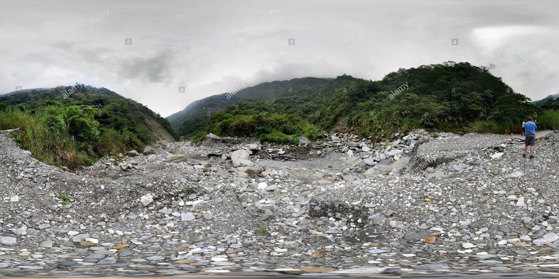 Camino a la cascada Aohwa 澳花瀑布 Imagen De Stock