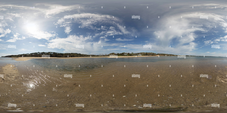 Agradable Bay-Incoming marea baja Imagen De Stock
