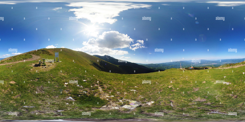 Parang, vista de cumbre Carja Imagen De Stock