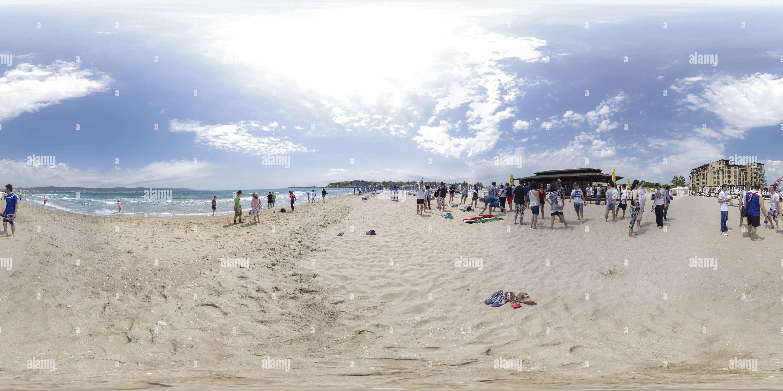 Teambuilding en la playa cerca de Cacao en Sunny Beach, Bulgaria Imagen De Stock