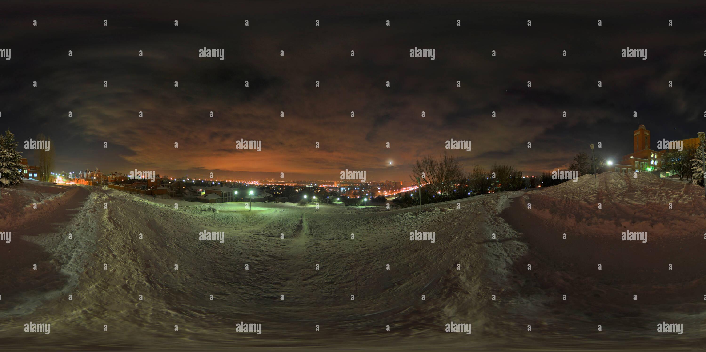 Centro de actividades creativas para niños (el antiguo Palacio de los pioneros), invierno, la noche Imagen De Stock