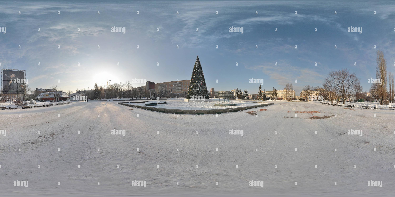 Un árbol de Navidad en la Plaza Fontannaya ploshchad (Fuente) Imagen De Stock
