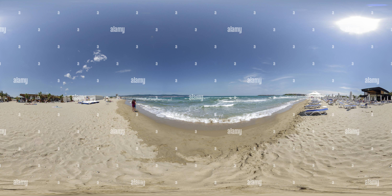 Romántico comienzo del verano en el Cacao de Sunny Beach, Bulgaria Imagen De Stock