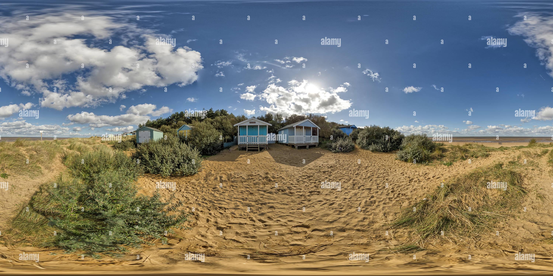 Old Hunstanton cabañas de playa Imagen De Stock