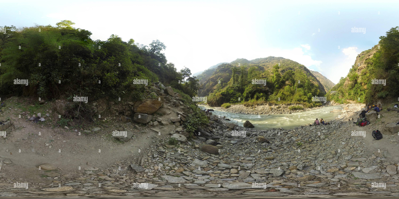 Río Khola Langtang Imagen De Stock