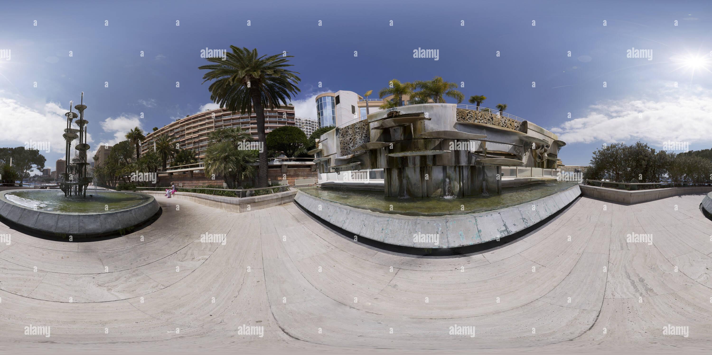 Mónaco fontana Larvotto Imagen De Stock