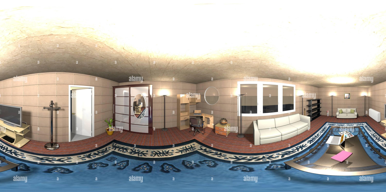 Algunas habitaciones en 3D que hice Imagen De Stock