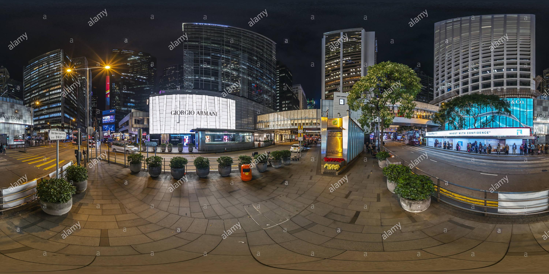Edificio comercial central(夜中環),HK. Imagen De Stock