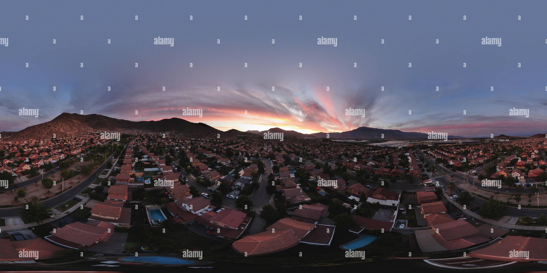 Ciudad de los Valles - Antena Panorama Imagen De Stock