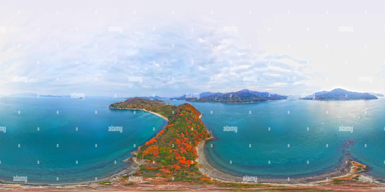 Los colores de la isla de Mikado, Inlandsea, Japón Imagen De Stock