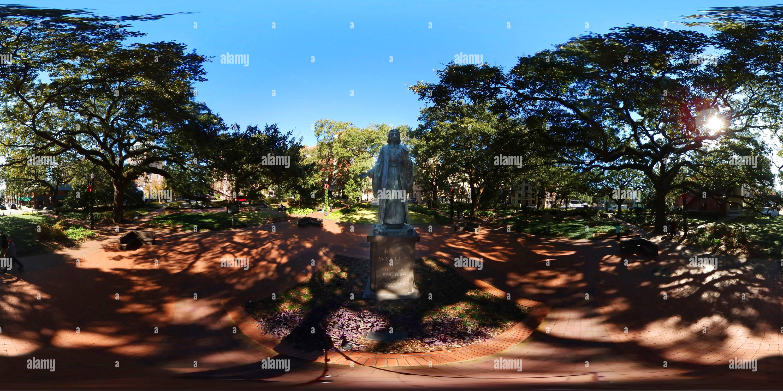 John Wesley Monumento, Reynolds Square en Savannah, Georgia Imagen De Stock