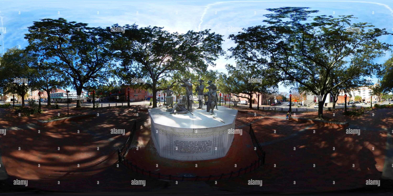 Monumento a los soldados haitianos, Franklin Square en Savannah, Georgia Imagen De Stock