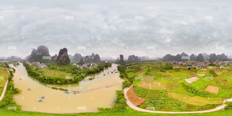 Río Yulong Imagen De Stock
