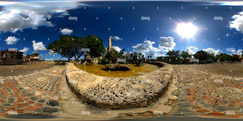 La plaza de Altos de Chavón en La Romana Imagen De Stock