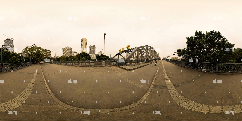 Puente Haizhu,Guangzhou Imagen De Stock