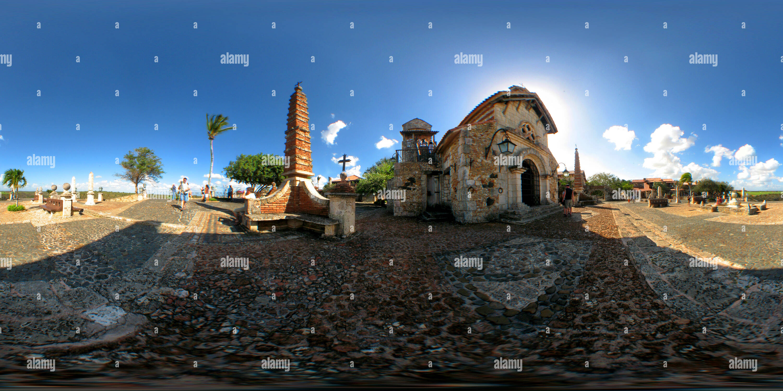 La Iglesia de San Estanislao, en Altos de Chavon en La Romana Imagen De Stock