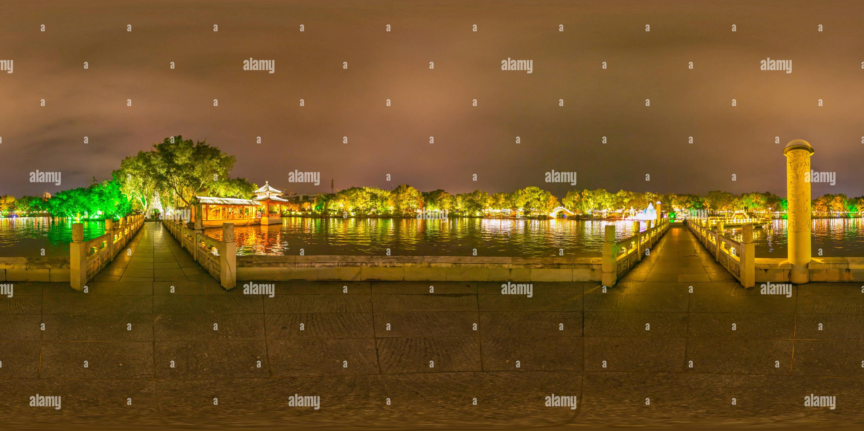 Escena nocturna en Ronghu lake,GUILIN Imagen De Stock