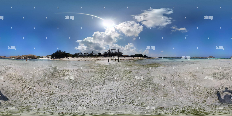 Paradisíaca Playa Tanjung Aan (Lombok, Indonesia) Imagen De Stock