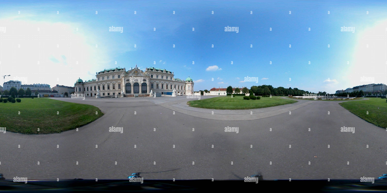 Schloss Belvedere - Parque superior Imagen De Stock