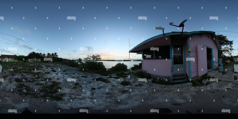 Flo's bar en el exterior, Little Harbour Cay, Bahamas Imagen De Stock