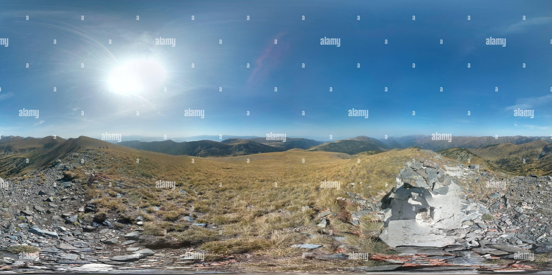 Bulgaria, el macizo de Rila, vista desde el pico de Big Bear Imagen De Stock