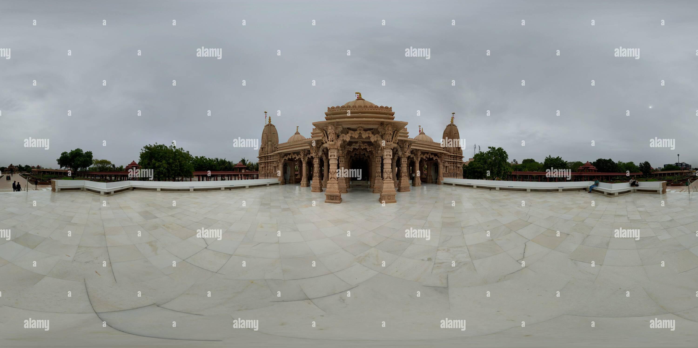 La BAPS Swaminarayan Mandir, Bhavnagar Imagen De Stock