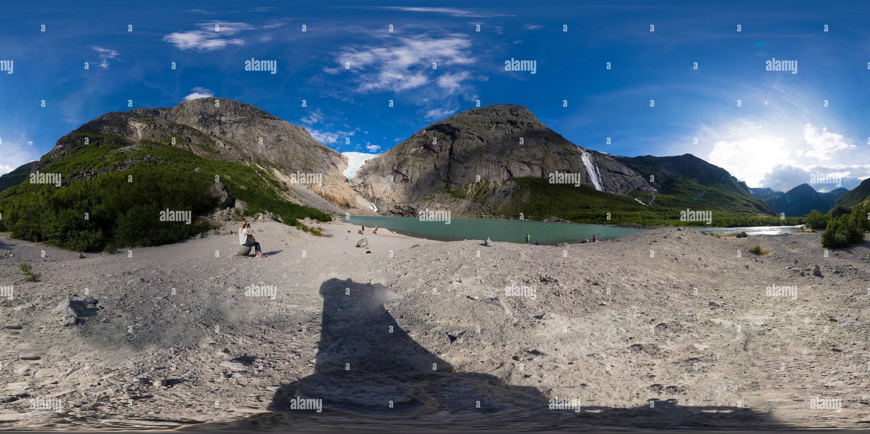 360° Brikdalsbreen, Noruega Central Imagen De Stock