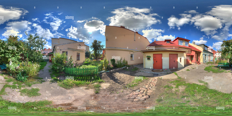 En ul.Uritskogo patio en la parte histórica de Grodno Imagen De Stock