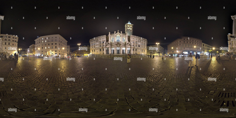 La Piazza Santa Maria Maggiore, Roma Imagen De Stock