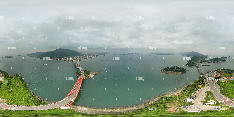 창선-삼천포대교 changseon-samcheonpo gran puente Imagen De Stock