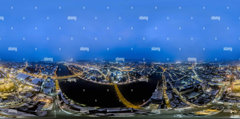 Vista aérea de Solothurn, Suiza por la noche Imagen De Stock
