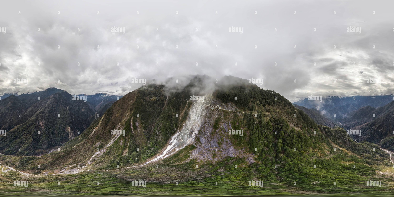 Vista aérea del precipicio Yukong Imagen De Stock