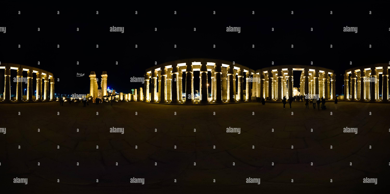 Templo de Luxor 360° Imagen De Stock