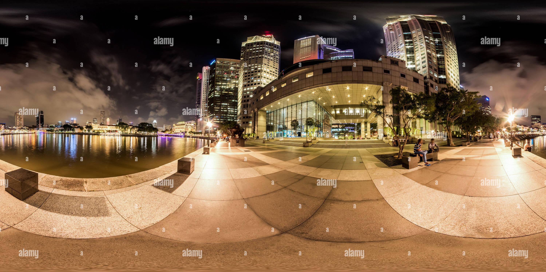 Vista nocturna de Boat Quay Singapur Febrero 2017 Imagen De Stock