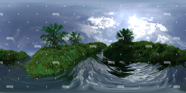 Isla flotante Imagen De Stock