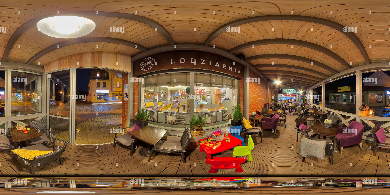 Tienda de helados por la noche Imagen De Stock