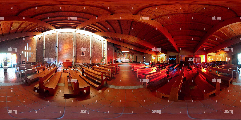 Iglesia moderna en campofiorenzo Imagen De Stock