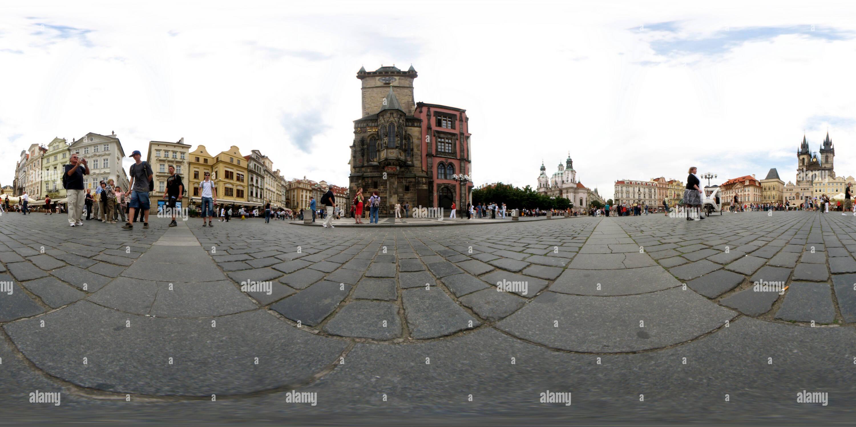 Plaza de la Ciudad Vieja de Praga Imagen De Stock
