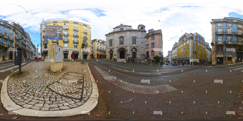 La Iglesia de la Magdalena - Lisboa Portugal Imagen De Stock