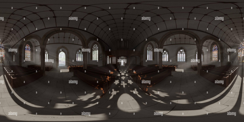 Reconstrucción en 3D de Carlos Iglesia en Plymouth Imagen De Stock