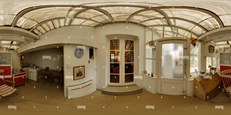 La casa de Charles Causley en Launceston - sala 3 - cocina Imagen De Stock
