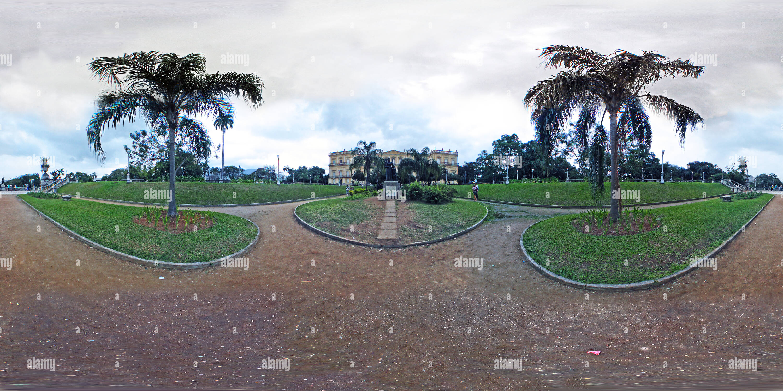 Museu Nacional de la Quinta da Boa Vista, São Cristóvão- Rio de Janeiro. Imagen De Stock