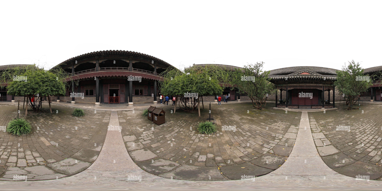 El Templo de Confucio en Qufu, en la provincia de Shandong, después de que la Iglesia y el Oeste después de Imagen De Stock