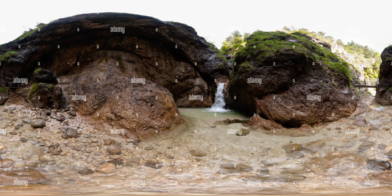 Cañón Almbachklamm Imagen De Stock
