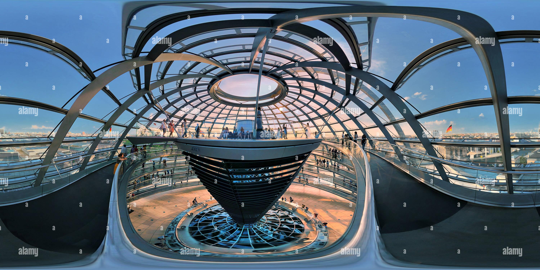 Abendstimmung in der Kuppel Reichstag Berlin 7415 Imagen De Stock