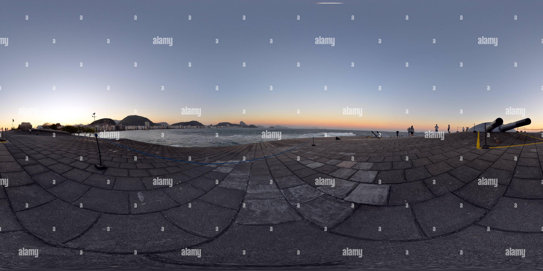 Copacabana no fim da Tarde Vista do Forte - Rio de Janeiro. Imagen De Stock