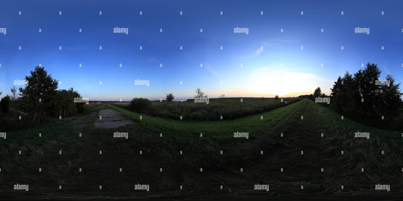 Swinoujscie , puesta de sol ,verano 2011 Imagen De Stock