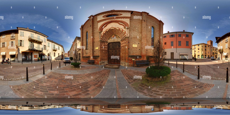 La Iglesia de San Domenico en Alba Imagen De Stock