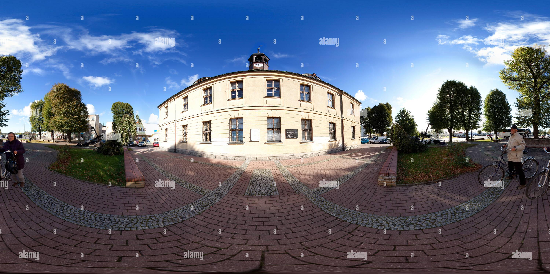 Swinoujscie , el Museo de la pesca marina vista desde Plac Rybaka Imagen De Stock